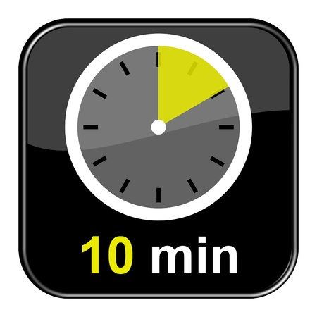 Glossy black button - 10 minutes