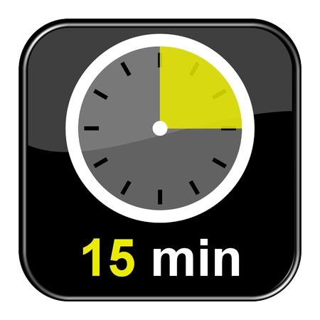 Glänzend schwarz-Taste - 15 Minuten Lizenzfreie Bilder