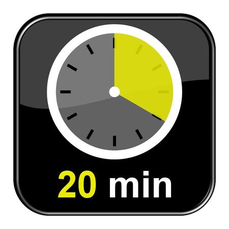 Glänzend schwarz-Taste - 20 Minuten