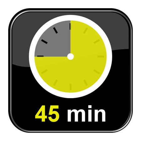 Glossy black button - 45 minutes