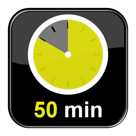 seem: Glossy black button - 50 minutes