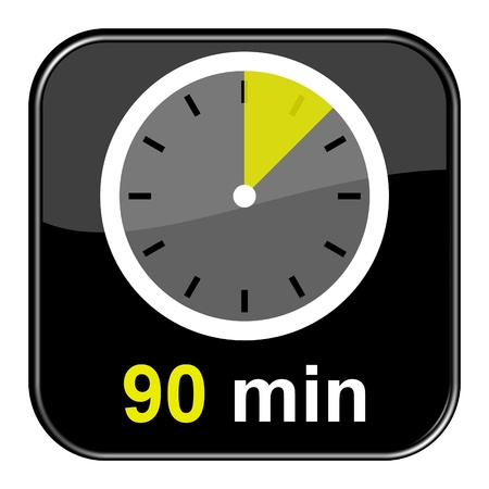 Glossy black button - 90 minutes