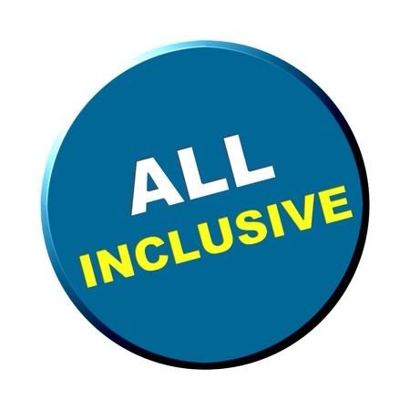destroyer: Round blue button - all inclusive