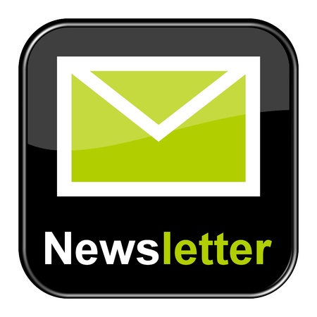 Glossy Black Button - Newsletter