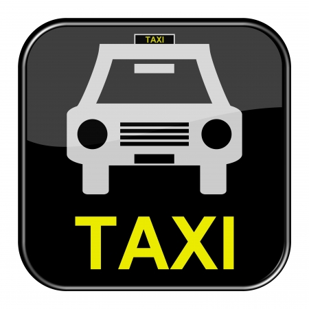 Glossy black button - Taxi photo