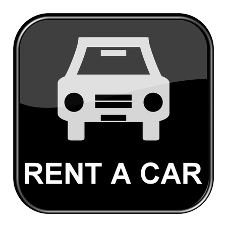 Glossy black button - Rent a car Stock Photo - 13768944