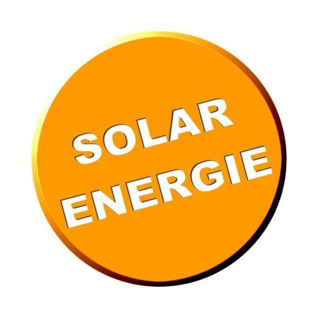 Round Orange Button - Solar Energy photo