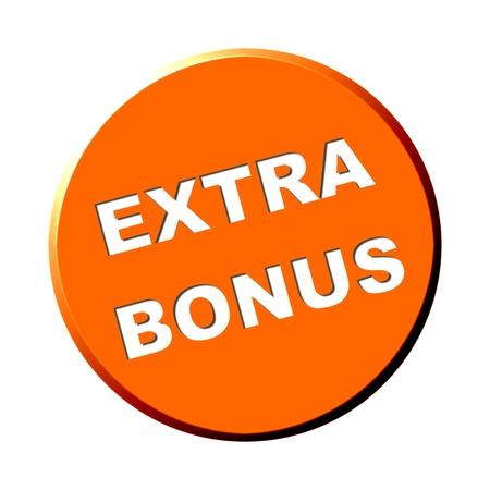 Round orange button - Extra Bonus Stock Photo - 13784549
