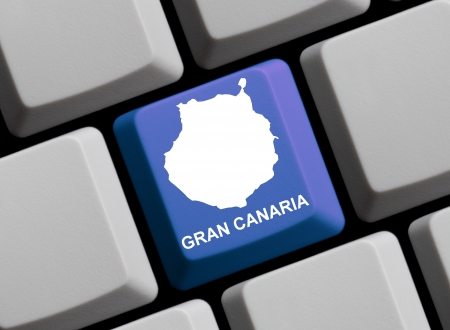 gran canaria: Keyboard Map - Gran Canaria Stock Photo