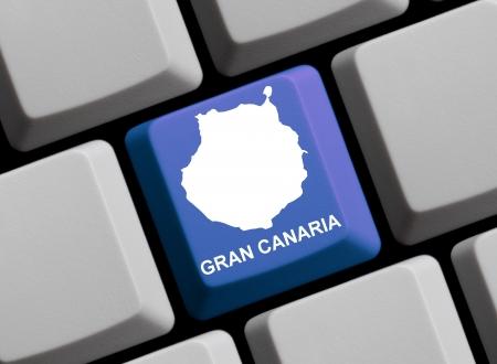 gran canaria: Keyboard Map - Gran Canaria Stockfoto