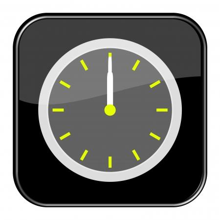 12 o'clock: Glossy black button - 12 0 o clock