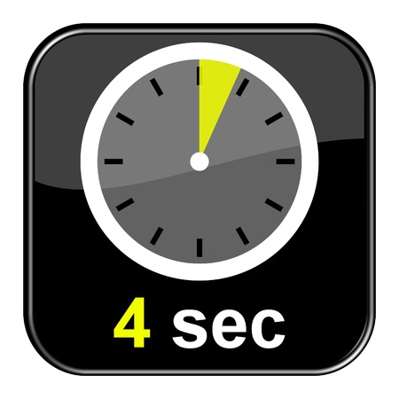 seem: Glossy black button - Clock 4 seconds
