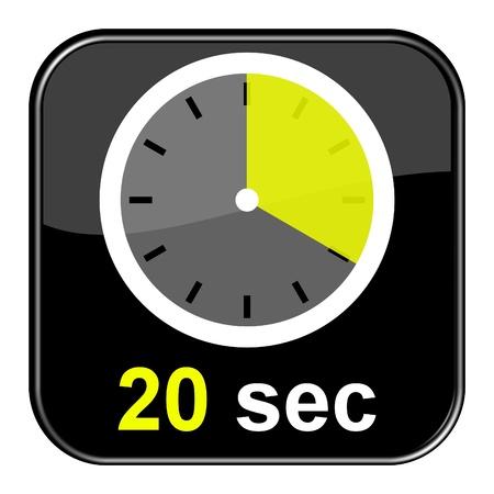 sec: Glossy Button black - Clock  20sec