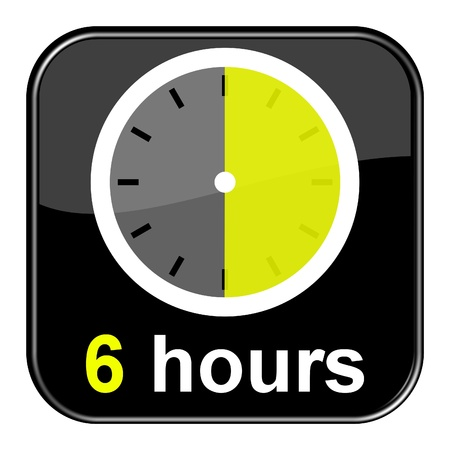 seem: Glossy black button - Clock 6h