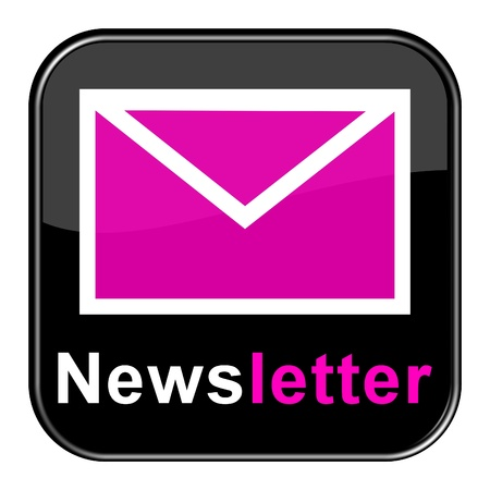 Glossy Button - Newsletter pink