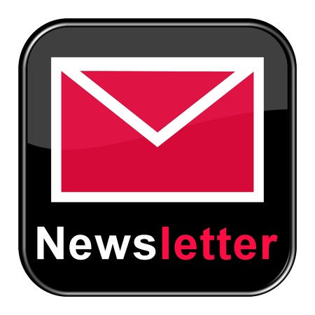 Glossy Button - Red Newsletter