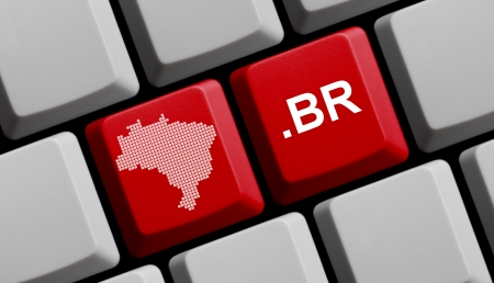 br:  br - Brazilian domain Stock Photo