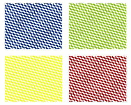 Blue background in 4 colors, green, yellow, red - diamond pattern photo