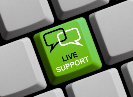 Live support online - the quickest way to get help Stock Photo - 16215428