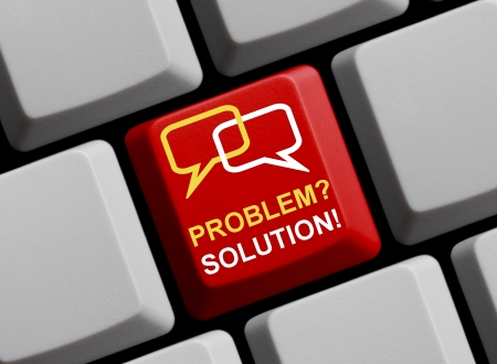 Problem  Solution  Solving problems Stock Photo - 16215427