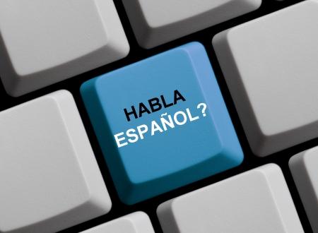 Habla Español Haben Sie sprechen Spanisch Lizenzfreie Bilder