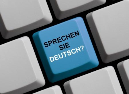 foreigner: Do you speak German - Sprechen Sie deutsch  Stock Photo