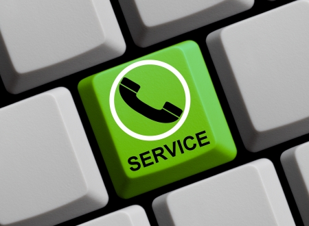 customercare: Online Service Stock Photo