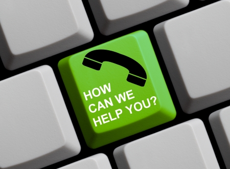 help button: How can we help you