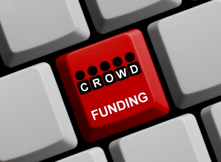 Crowdfunding online Stock Photo