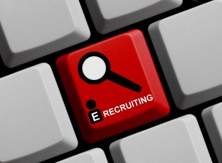 e recruitment: E-Recruiting Online Stock Photo