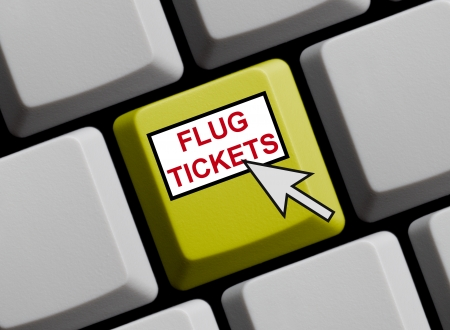 Flugtickets online Stock Photo - 16466084