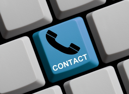customercare: Contact us online Stock Photo