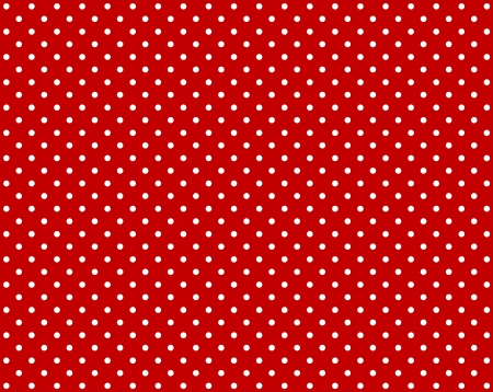 White dots on red background