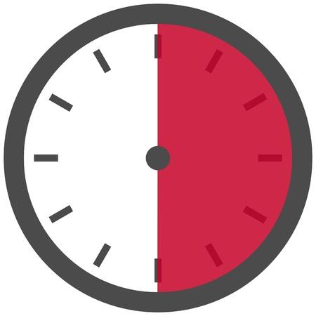 cronometro: 30 Segundos Minutos o 6 horas Foto de archivo