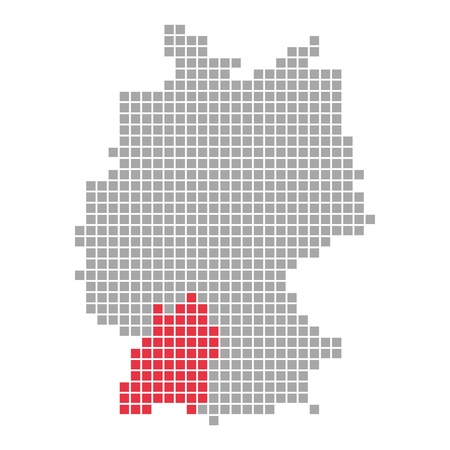 Pixelmap - Estado Federal de Alemania Baden-Wrtemberg photo