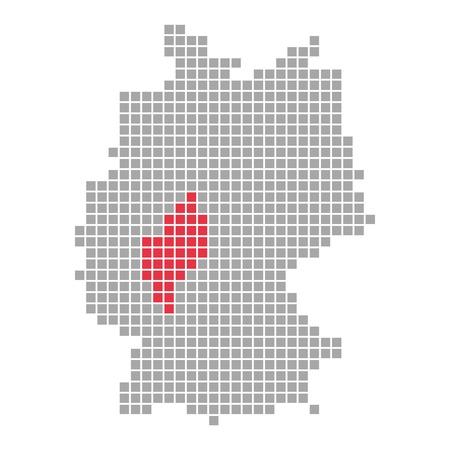 hessen: Pixelmap - Federal State of Germany  Hessen