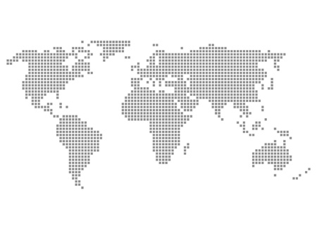 Pixelmap Continents - World Grey photo