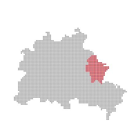 marzahn: Pixelmap - Districs of Berlin  Marzahn-Hellersdorf Stock Photo