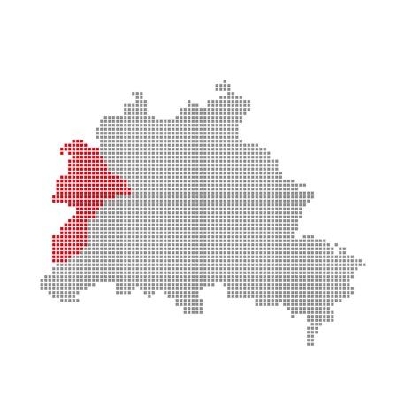 spandau: Pixelmap - Districs of Berlin  Spandau