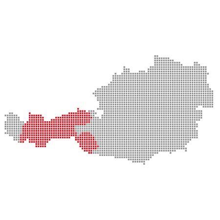 Pixelmap Austria  Tyrol Stock Photo - 17105474