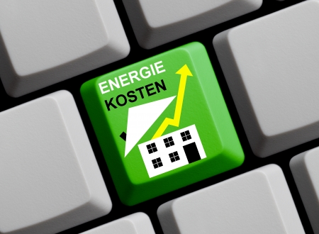 rising energy costs german Stock Photo - 17368805