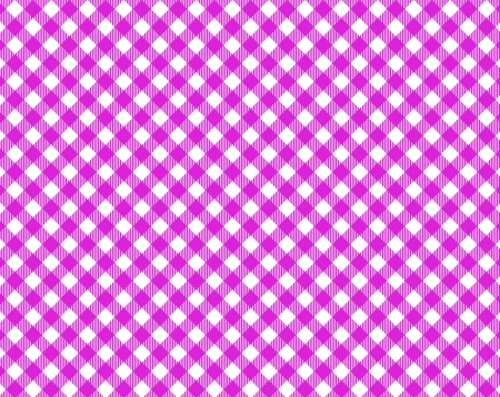Pink white checkered tablecloth with diagonal stripes photo