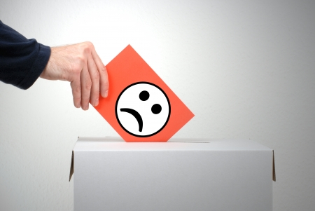 Ballot - criticism Stock Photo - 18049049