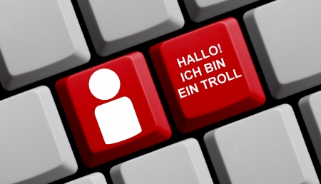 Hello, I am a troll - German Stock Photo - 18157599