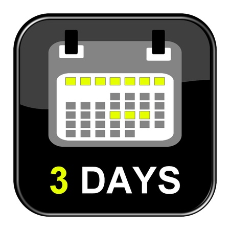 appointment book: Button - 3 Days Stock Photo