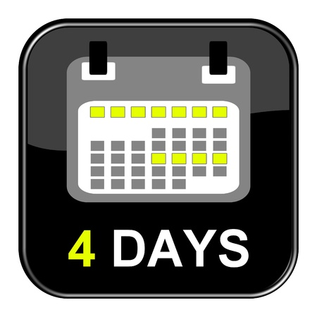 appointment book: Button - 4 Days