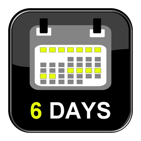appointment book: Button - 6 days