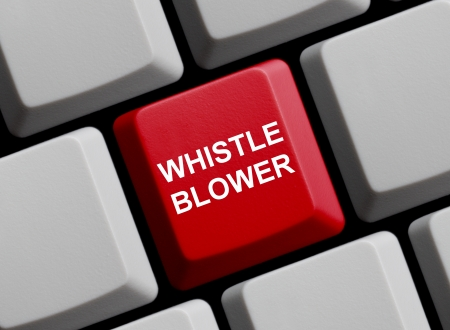 whistleblower: Whistleblower online Stock Photo