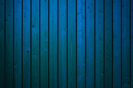 Background of blue wood boards