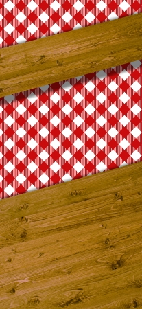 Beams for text with pattern red white tablecloths